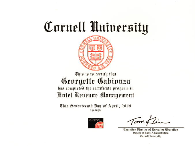 cornell school hotel administration essay Cornell's school of hotel administration undergraduate curriculum is geared  towards a career in the hospitality industry.