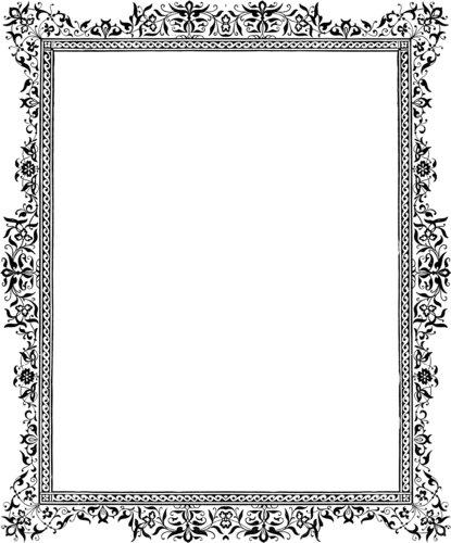 flower frame clipart. clip art flowers border. clip