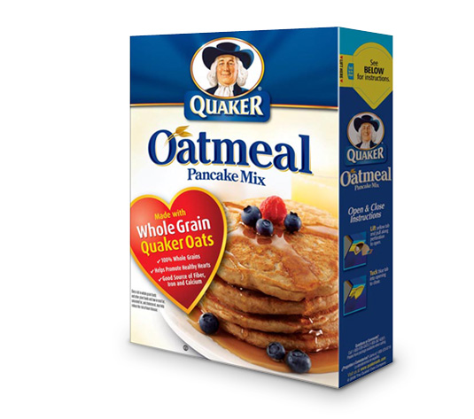 upon a new product quaker oats oatmeal pancake mix the mix is 100