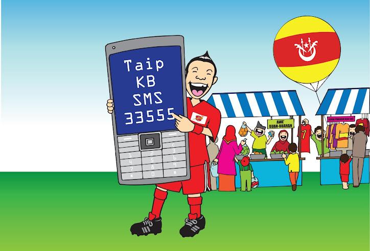 TAIP 'KB' DAN HANTAR SMS KE 33555
