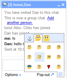 Google Added Smileys and Group Chat Feature to Gmail Chat