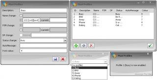 Plus! Profiles Screenshot