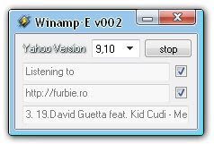 Winamp•E- Show What Song You`re Listening to on Yahoo Messenger Status