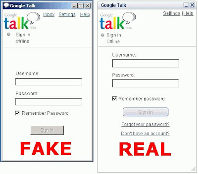 Fake Google Talk Application With A Trojan!