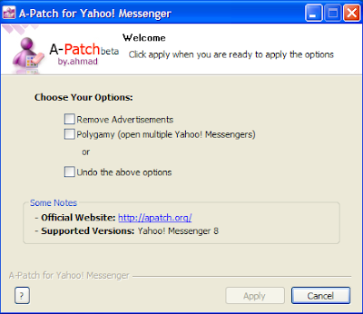 A-Patch for Yahoo! Messenger - Remove Ads an Open Multi Windows