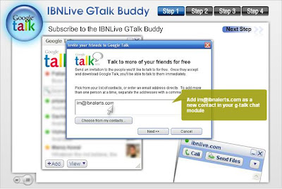 IBNLive Gtalk Buddy - Get the latest News from IBNLive to Gtalk