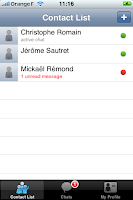 OneTeam Instant Messenger for iPhone
