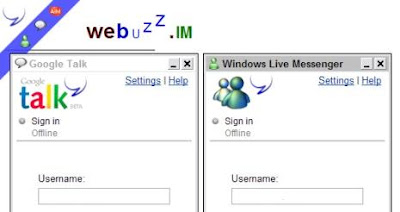 WeBuzz.IM - Web-Based IM for Gtalk, MSN, AIM and Y!Messenger