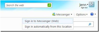 Sign in to Messenger on the Web in Hotmail