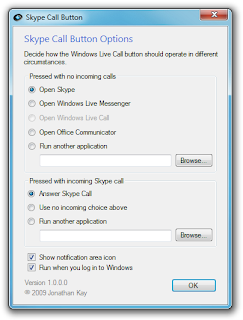 Skype Call Button - Use Skype with Windows Live Call Button on Microsoft Handsets and Webcams