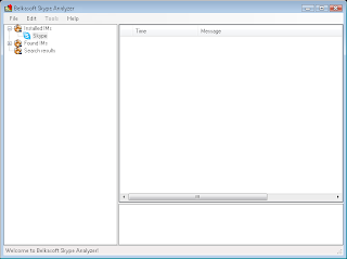 Belkasoft Skype Analyzer Main Windows Screenshot