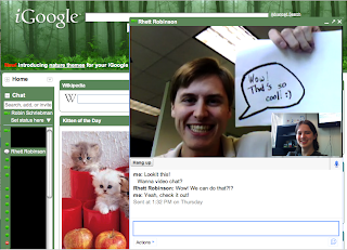 iGoogle Video Chat Feature