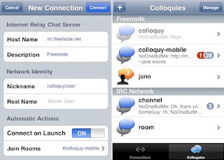 Mobile Colloquy Screenshot
