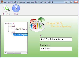 Sanmaxi Gtalk Messenger Password Recovery Screenshot