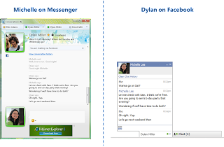 Windows Live-Messenger Facebook Chat Screenshot