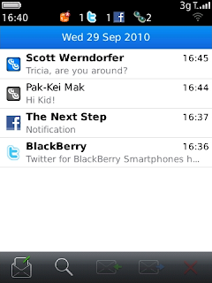 New Trillian 1.1 for BlackBerry Supports Landscape Messages Inbox