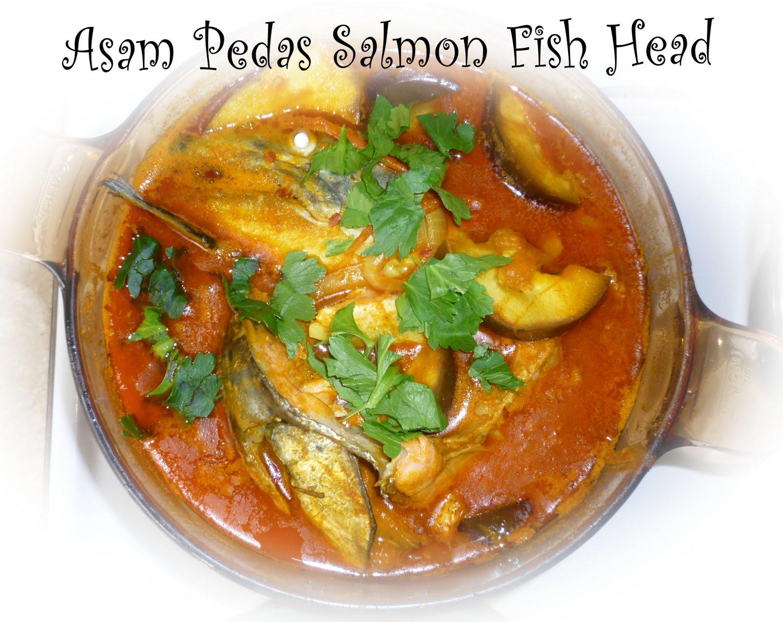 Yin 39 s homemade assam pedas salmon fish head for Fish head recipe