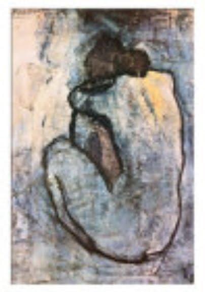 pinturas de picasso. Picasso, blue nude 1902