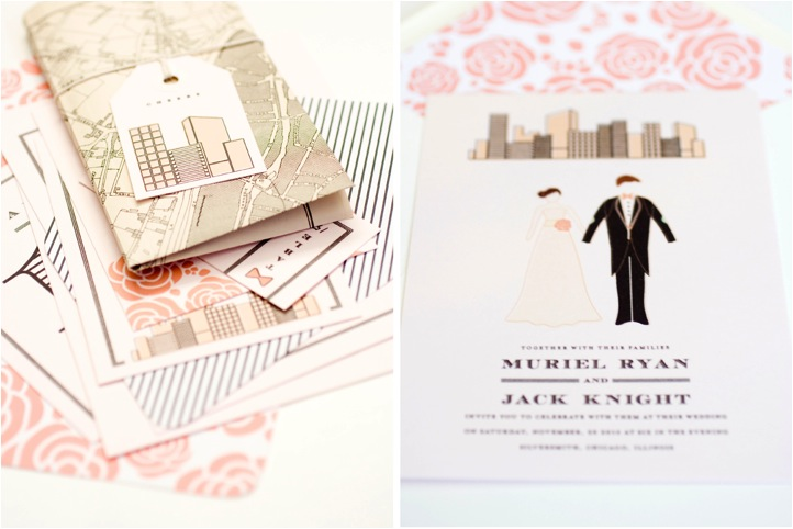 muriel city suite from mae mae paperie wedding invitations wedding invitations