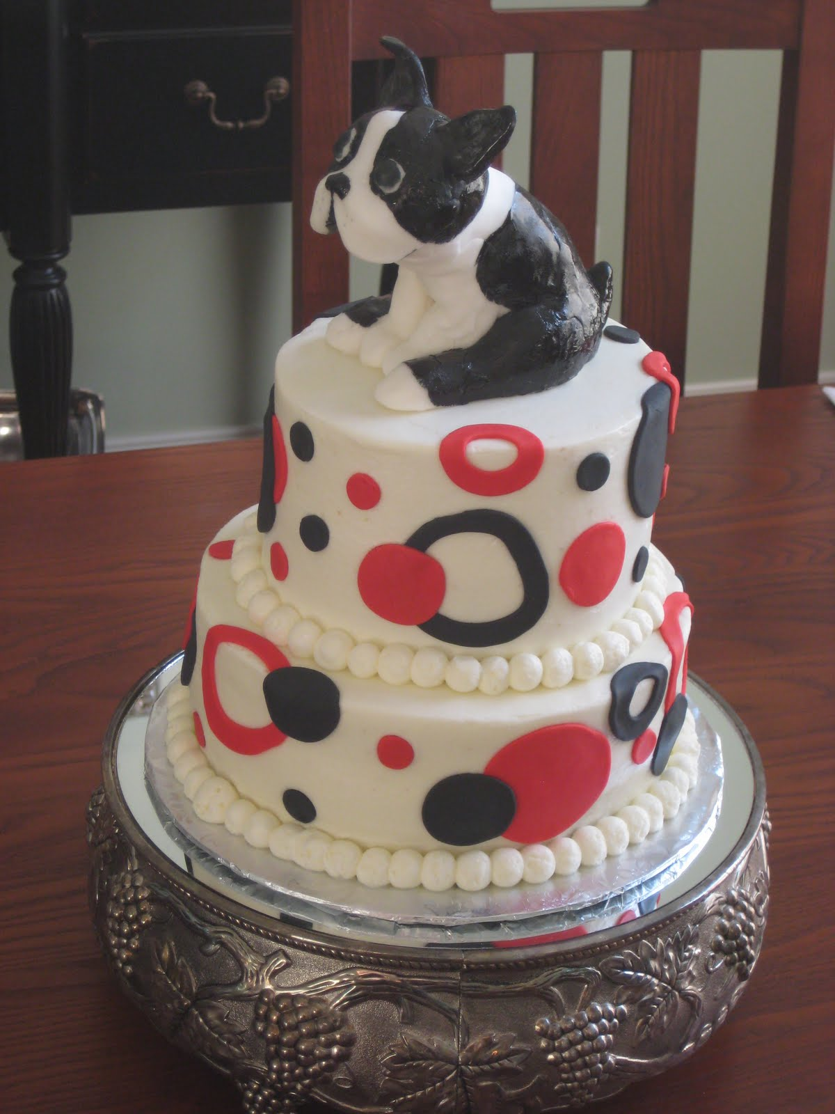 For The Love Of Cake Brothers Boston Terrier Birthday Cake