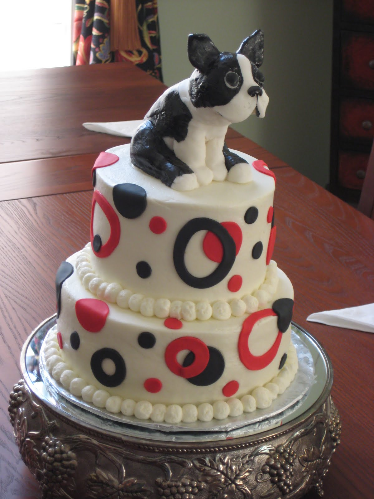 For the love of cake brothers boston terrier birthday cake - Happy birthday cake picture ...