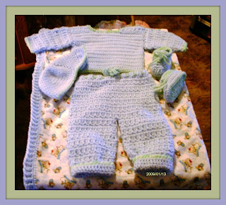 ... and My Sisters Carol, Ruby, Michelle and Darlena: Crocheted Baby Sets