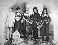 Historical photographs of the first women in the age of miracle play Khan Qajar