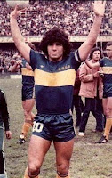Maradona from shorts and t-shirts to suits