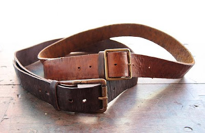 lark gilded age leather belt