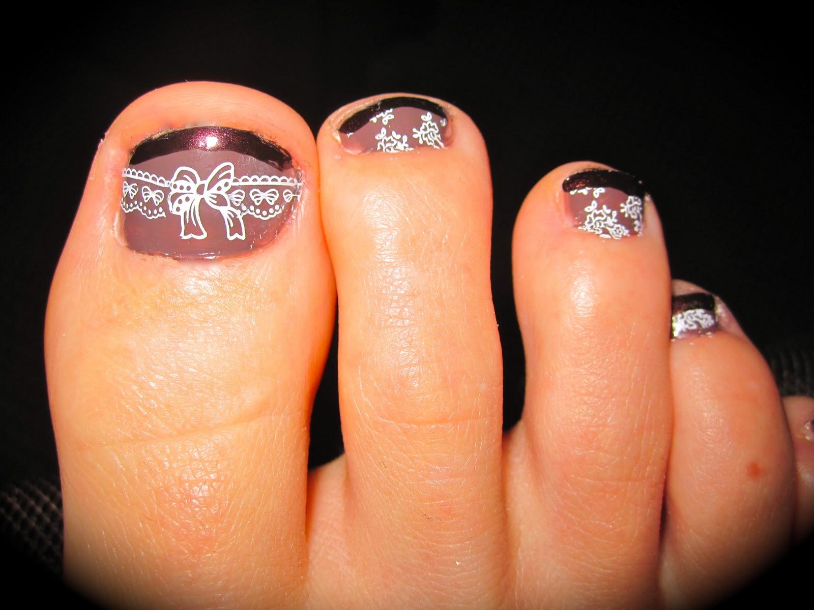 my 2010 oc nail art fall pedicure contest konad pedicure