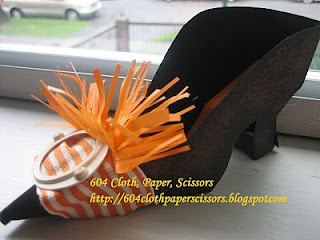 paper witch's shoe handmade by Ida Chan