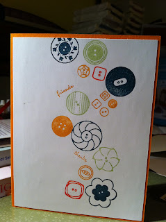 Buttons card by Ida Chan Stampin' Up! demonstrator Vancouver