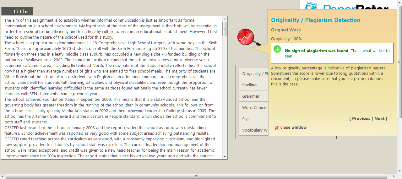 an end to end to end a review essay of barbara van schewick s paper rater plagiarism checker