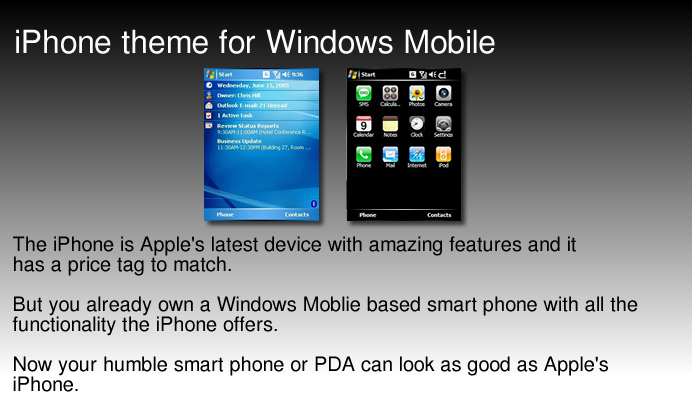 iPhone Theme for Windows Mobile 5