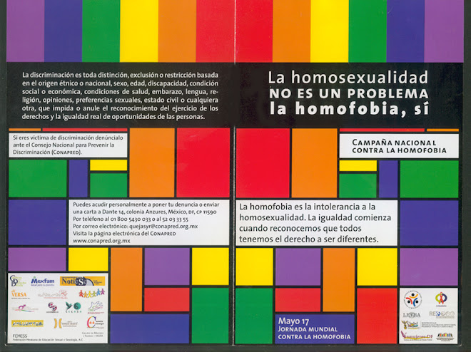 La homosexualidad no es problema... la homofobia sí.