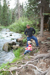 Dad and Haylin Fishin' at Mammoth Creek