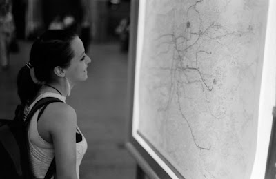 Girl in Prague Subway