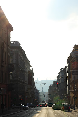 Prague - Zitna street on Sunday afternoon