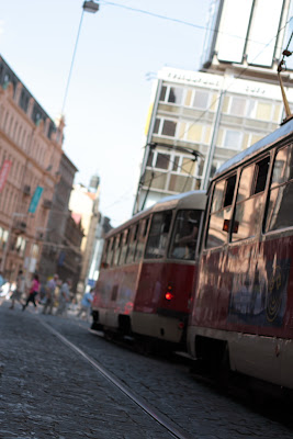Tram at Wenceslas square