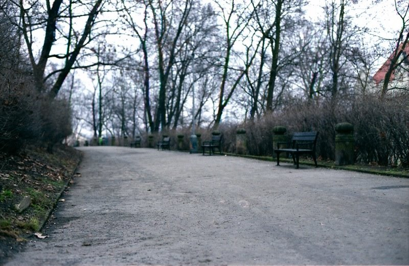 Park in Smichov, Prague