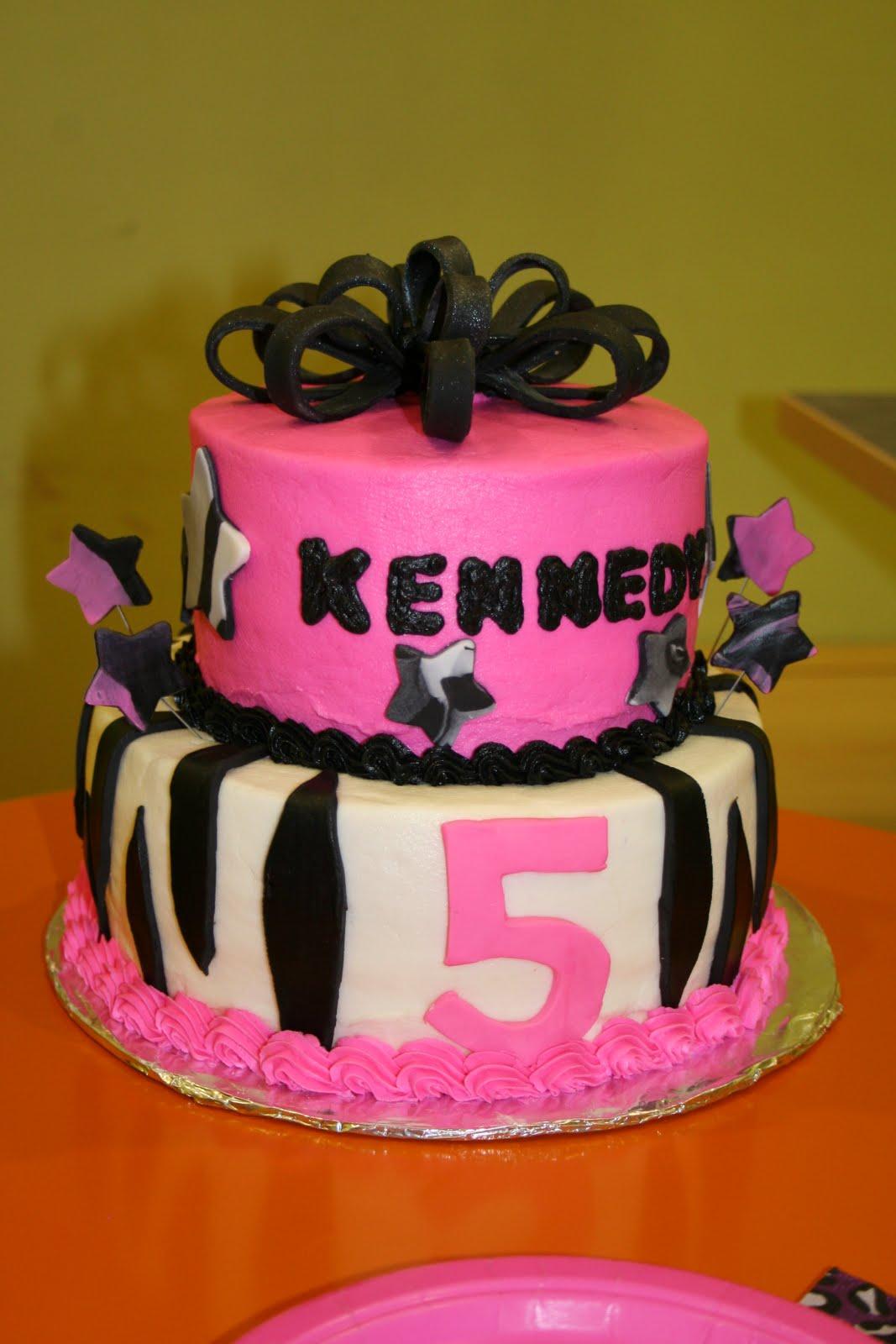 Rachels Creative Cakes Pink And Black Zebra Birthday Cake