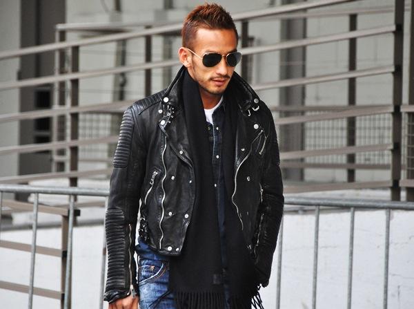 Burberry leather jacket celebrity