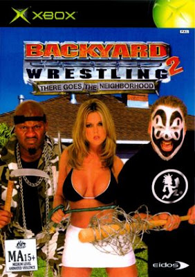 No, wrestling's not the least bit homoerotic.  See, here's a chick with big hooters to prove it!  Never mind the clown with the phallic symbol.