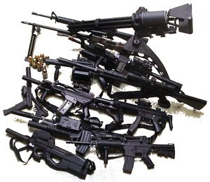 Yes, a big pile of guns reminds me of my friend Pat.  Whether that says more about him or me, I don't know.