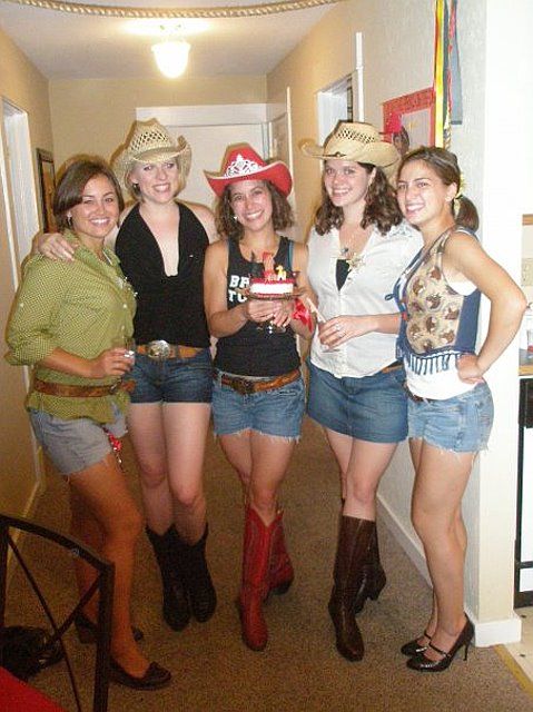 two years ago my awesome matron of honor threw a cowgirl themed bachelorette party for me