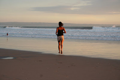 girl on a beach in Katu, Bali