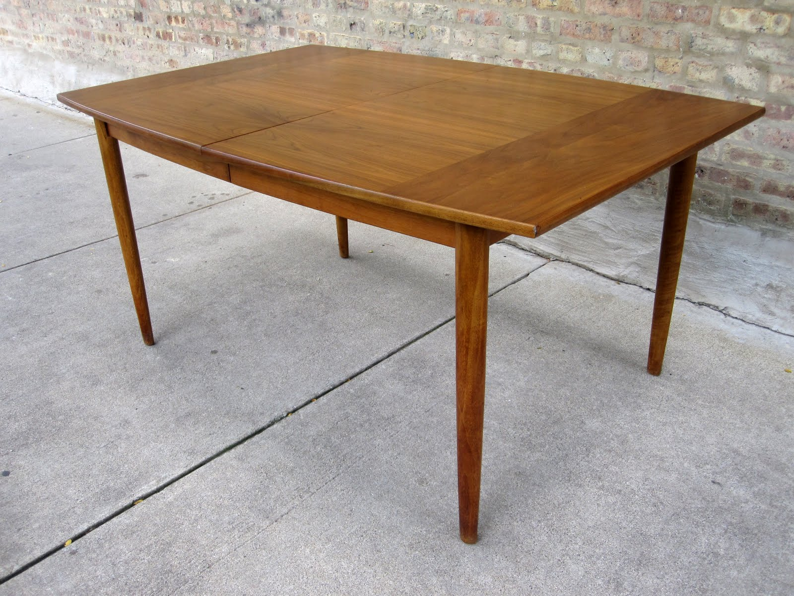 Attractive Circa Midcentury Drexel Parellel Walnut Dining Room Suite Table .