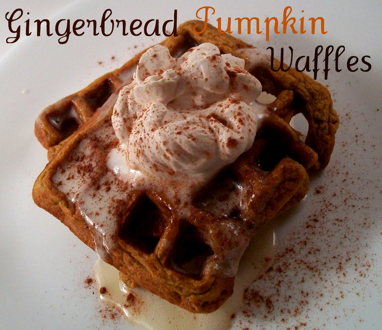 Gingerbread Pumpkin Waffles . Yummy! A different version of pumpkin ...