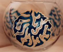 Glass painting, Mongolian caligraphy