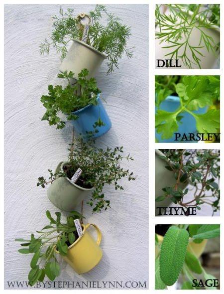 crafts hanging herb garden